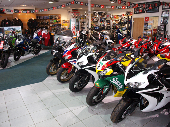 Grantham Motorcycles Inside